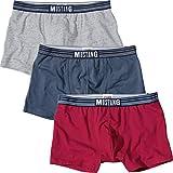 MUSTANG Herren-Pants 3er-Pack Single-Jersey rot