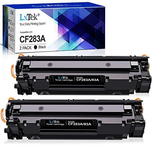 LxTek 83A Toner Kompatibel für HP CF283A 83A Patronen für HP Laserjet Pro M201dw M201n Laserjet Pro MFP M225dn M225dw M125a M125rnw M125nw MFP M127fn M127fp M127fs M127fw (2 Schwarz, Mit Chip)