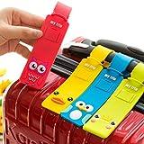 STUDYY 12 Stück süße Tiere, Gepäckanhänger, Bunte Silikon-Reisetasche, Identifikationsetikett