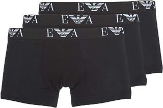 Emporio Armani Underwear Men's Cc715111739 Boxer Briefs, Black, XX-Large (Size:)