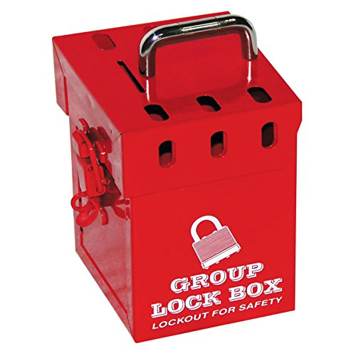 Lockout Safety Supply 7286 - Caja de seguridad para 7 candados, color rojo