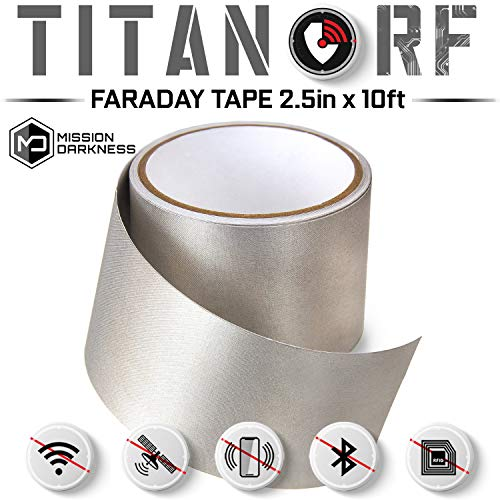 TitanRF Faraday Tape - High-Shielding Conductive Adhesive Tape // Used to Connect TitanRF Fabric Sheets or Seal RF Enclosures (6.35cm W x 305cm L)