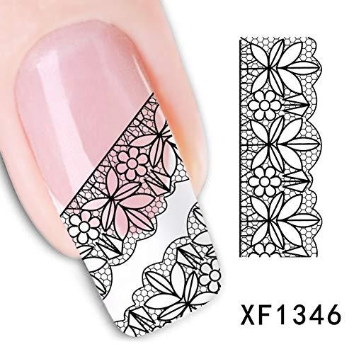 Momangel Mode Fleurs DIY Nail Art Autocollant Femme Manucure Beauté Stickers Autocollant Nail Art Résidence universitaire.
