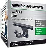 Rameder Attelage rotule démontable pour Seat Leon + Faisceau 7 Broches (130559-05431-3-FR)
