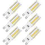 LOHAS Bombillas LED G9 de 5W, Equivalentes a Lámparas Halógenas de 40W, Blanca Fría 6000K, 400LM, Ángulo de Haz de 360°, AC 220-240V, No Regulable, Paquete de 6