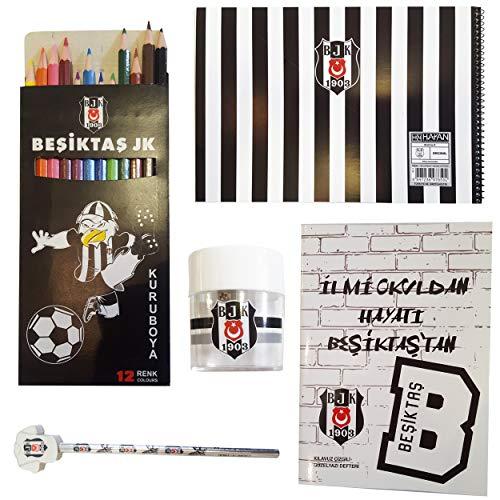 Hakan Canta Besiktas Istanbul - schoolset - boekje - schilderboekje - gum - potlood - kleurpotloden nr. 1903 BJK3