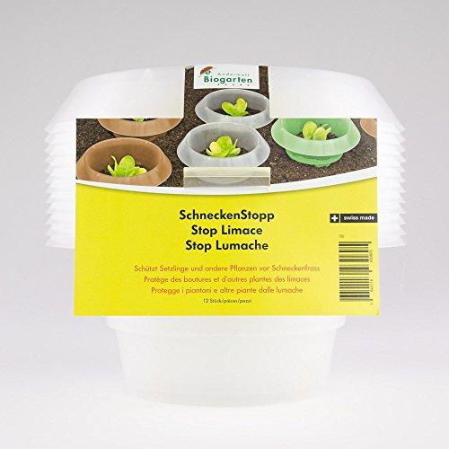 Andermatt Biogarten AG SchneckenStopp PP, transparent, Set à 12 Stück