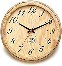 ALEKO WJ11 Analog Clock for Sauna Handcrafted from Finnish Pine