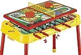 Mightymast Dribbling Plus - Mesa multijuego, Color Amarillo y Rojo