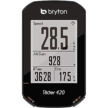 Bryton 420E Rider, Unisexe, Adulte, Noir, 83,9 x 49,9 x 16,9 cm