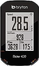 Bryton 420E Rider, zwart, 83,9 x 49,9 x 16,9 cm.