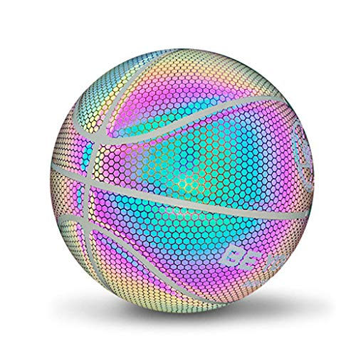 Best Deals! ZJB Size 7 NO.7 Glowing Reflective Basketball 2020 Light Up Basketball Glow in The Dark ...