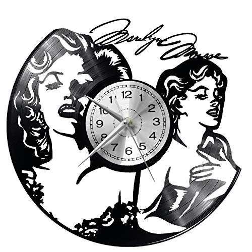 WoD Marylin Monroe - Reloj de pared de vinilo, diseño retro, grande,...