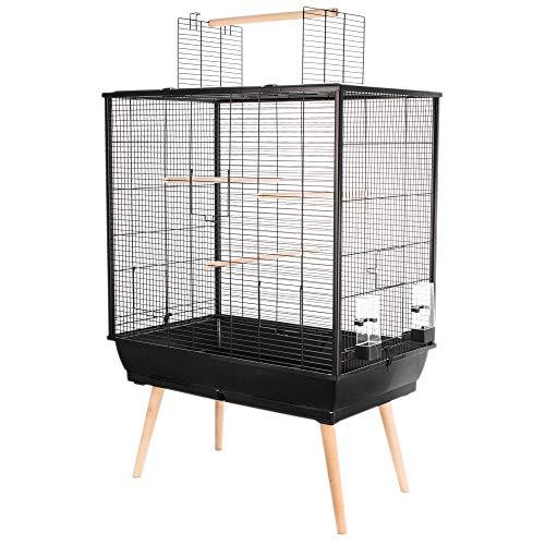 Zolux Cage Neo Jili Oiseau L 78 x P 47,5 x H 112 cm Noire