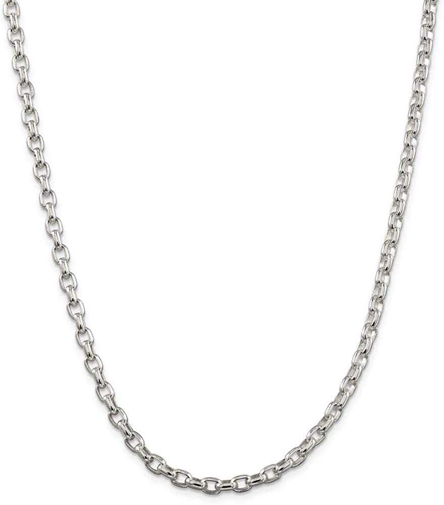 Ryan Jonathan Fine Jewelry Sterling Neckl Rolo Oval Max store 69% OFF Silver 4.4mm