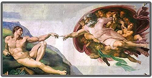 HBDHB Michelangelo La creación de Adán por Da Vinci Rompecabezas 1000 Piezas Rompecabezas de Madera Intelectual Juego Educativo Alivio del estrés