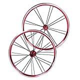 DAUERHAFT Artículo Determinado del Juego de Ruedas de la Bicicleta del Freno V de la Rueda de la Bici de la aleación de Aluminio, para Las bicis(Red Black)