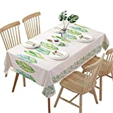 Hunterace PVC Vinyl Oilcloth Tablecloth Rectangular Table Cover For Kitchen Wipe Clean Plastic(135 * 180CM)-4