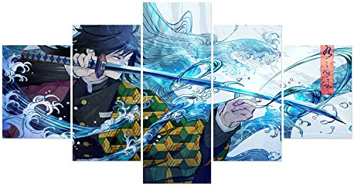 Hunbeauty art Demon Slayer Poster Unframed Canvas Prints Anime Posters for Living Room Tomioka Giyuu