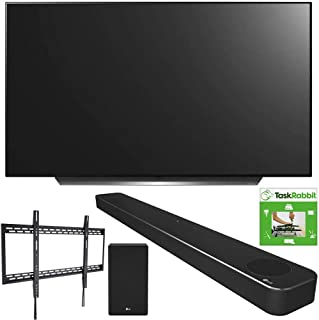 LG OLED77CXPUA 77-inch CX 4K Smart OLED TV with AI ThinQ (2020) Bundle SN10YG 5.1.2 ch High Res Audio Sound Bar + TaskRabb...