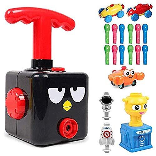 Versión mejorada Juguete lanzador globos para automóvil con globo, juego de lanzador globos para automóvil, inflador de globos, aerodinámica, regalos para niños educativos, (Pájaro negro)