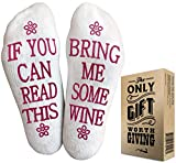 Wine Socks with Gift Packaging: Christmas Gifts with If You Can Read This Socks Bring Me Some Wine Phrase. Great Wine...