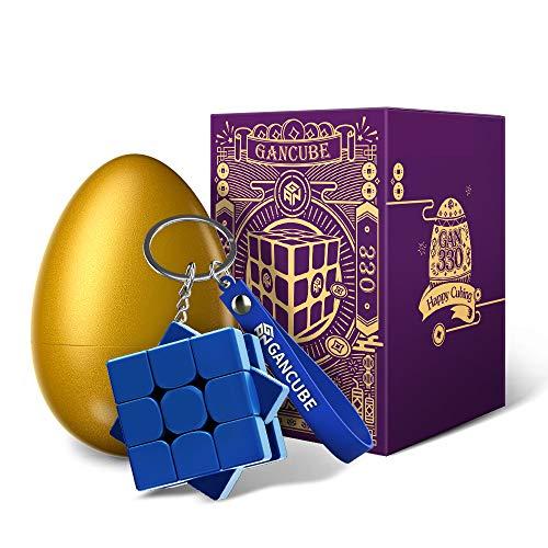 GAN 330 Edición Huevo de Pascua, Antiguo Rima Llavero Cubo Mini 3x3 Juguetes Regalo (Marrón Roca)
