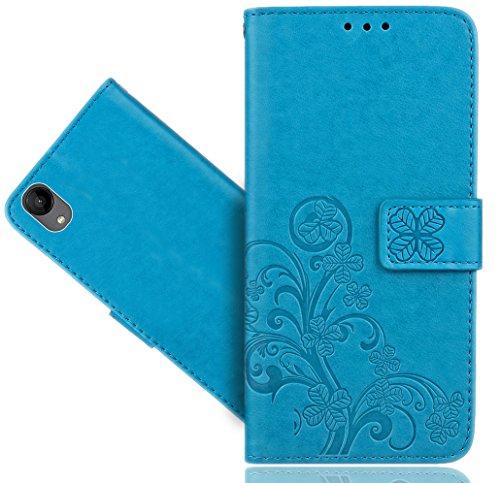 Wiko Sunny 2 Coque, FoneExpert® Etui Housse Coque en Cuir Flower Portefeuille Wallet Case Cover Pour Wiko Sunny 2