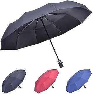 Windproof Folding Umbrella, Auto Open&Close Umbrella,Travel Umbrella For Women/Men, Umbrella In Rain&Sun, 10 ribs (black)