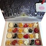 Calendario de adviento con aroma festivo de cera de Navidad Bliss Delights | Cera de soja vegana y sin crueldad derretimiento, cera de alta perfumación