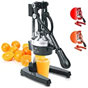 Top Rated Zulay Commercial Metal Orange Lemon Lime Squeezer - Premium Quality Heavy Duty Manual Citrus Juicer Press Stand