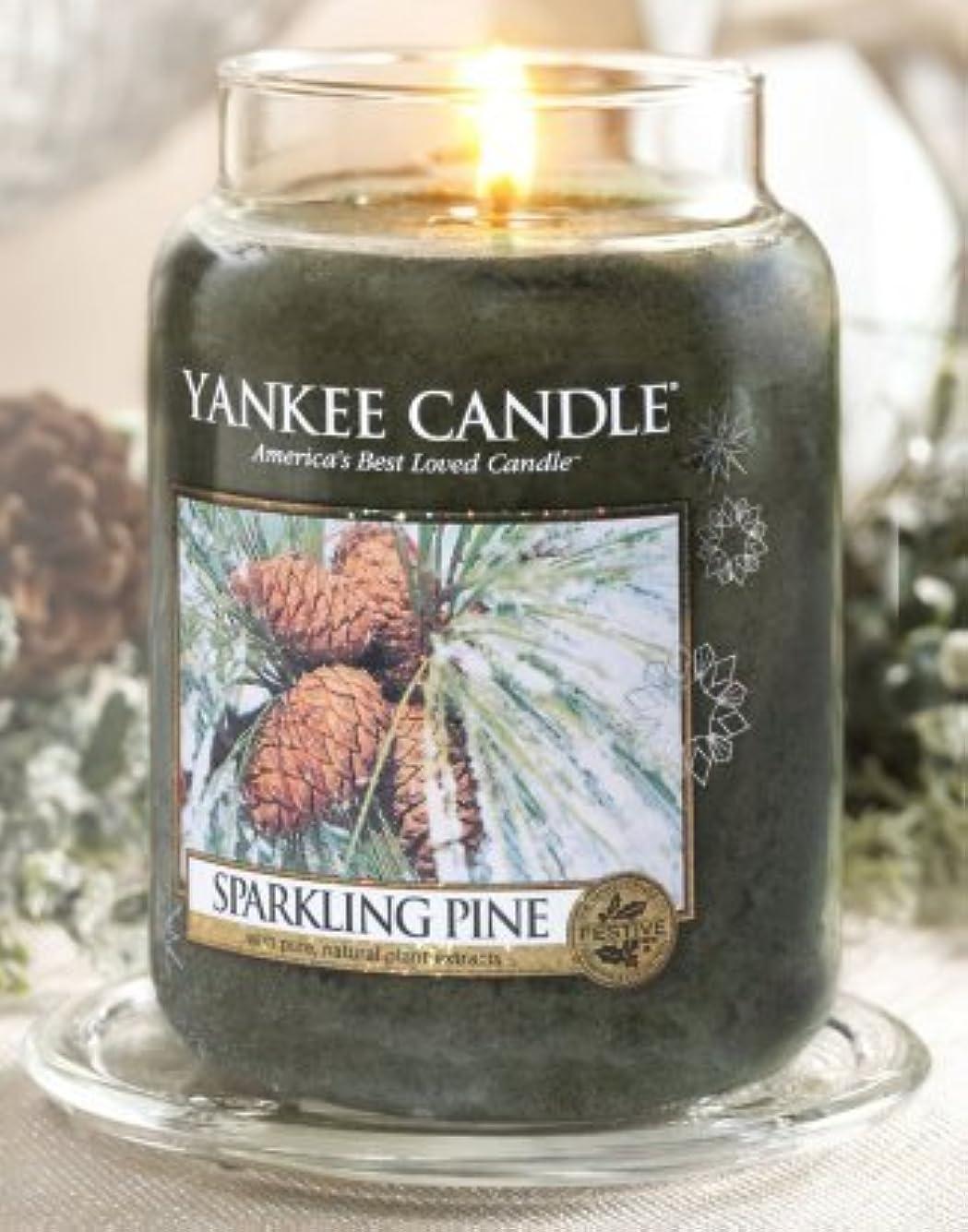 感謝している統計的セーターYankee Candle Sparkling Pine Large Jar Candle