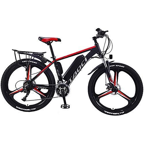 QYL Bicicletas eléctricas para los Adultos, en Bicicletas de aleación de magnesio Ebikes de Tierra, 26' 350W 36V 13Ah Litio-Ion batería extraíble Ebike Montaña