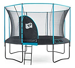 12ft Round TP Genius new for 2017 Stylish blue enclosure foams and pads Zip free IGLOO door entry 10 year frame warranty