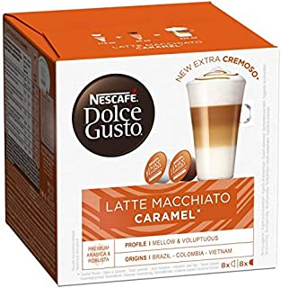 DOLCE GUSTO - Nescafé Capsules Type Latte Macchiato Caramel 145G