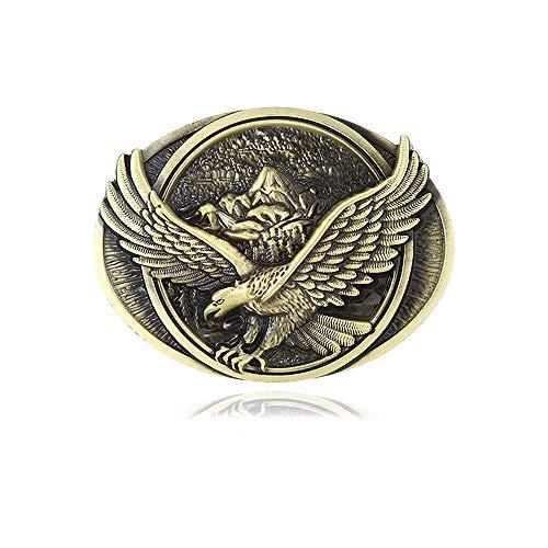 Vintage Celtic Knot Belt Buckles for Men Simple Cowboy Belt Buckle (Bronze Eagle)