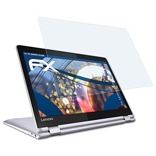 atFolix Schutzfolie kompatibel mit Lenovo Yoga 710 14 inch Panzerfolie, ultraklare und stoßdämpfende FX Folie (2X)