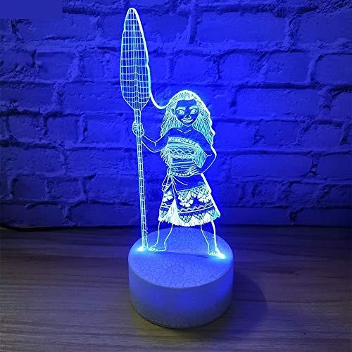 3D LED Night Light Moive Moana Maui Figure decoration Kids Children Bedroom decorationBest Cool 3D Night Light Table Lamp USB Night Light Light