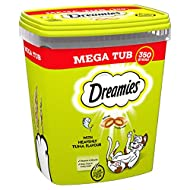 Dreamies Cat Treats, Tasty Snacks with Tempting Tuna Flavour, 2 Tubs of 350 g