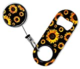 BarConic Mini Opener with Retractable Reel - Sunflowers