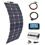 YSNUK Paneles Solares para El Hogar Kit Flexible 300W 12V Cargadores Solar De Batería 2 * 150W Móvil Solar Portátil 5v USB para Teléfono Barco De Coche China Impermeable Al Aire Libre