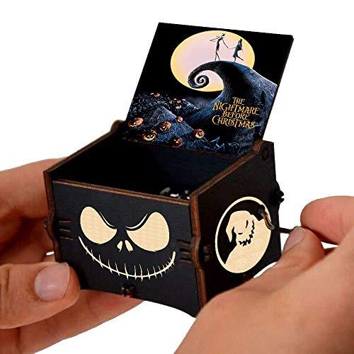 Evelure The Nightmare Before Christmas Carillon a manovella Carillon in Legno Intagliato Regali Musicali per i Fan (styleA)