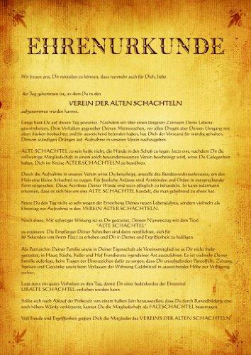 Urkunde Poster