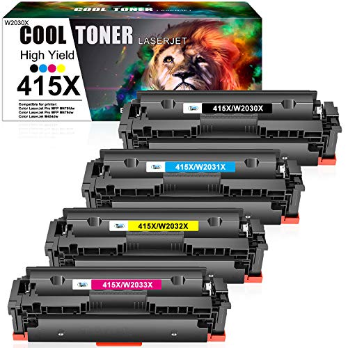 Cool Toner Compatible Toner Cartridge Replacement for HP 415X 415A 415...