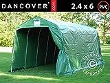 Dancover Lagerzelt Zeltgarage PRO Lagehalle 2,4x6x2,34m PVC, Grün