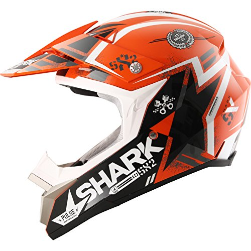 SHARK SX2 WACKEN Crosshelm schwarz/orange/weiss XS