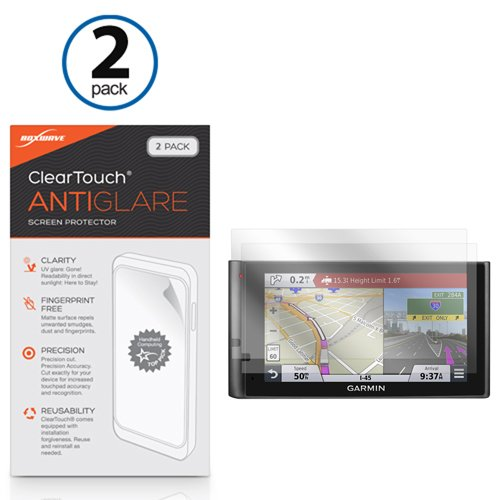 Garmin dezlCam LMTHD Screen Protector, BoxWave [ClearTouch Anti-Glare (2-Pack)] Anti-Fingerprint Matte Film Skin for Garmin dezlCam LMTHD