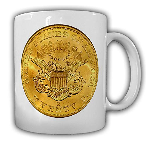 Double Eagle Gold Coin Dollar United States America Becher Wappen Tasse #27521