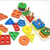 Doll patly 木製形状カラー認識 幼稚園 積み重ね 並べ替え 幾何学ボード ブロック 子供