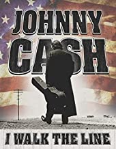 Desperate Enterprises Johnny Cash - Walk The Line Tin Sign, 12.5